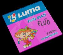 Papel Glace Luma Fluo Sobre x 5 Hjs. 10 x 10 Cms. x 50 Sobres Cod. 12-00
