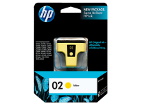 Cartucho Hewlett Packard  02 (C8773WL) Amarillo 5 Ml. P/Photosmart 8250/8230/5180/C6180/C6280/C7280/D7160/C7180/D7360 Cod. Ci-Hp-877300