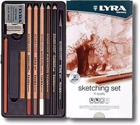 Lapices De Colores Lyra Rembrandt Para Bocetar Set x 11 Piezas Cod. 2051110