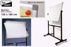 Pizarra Top Board Magnetica Xtz 5120 Doble Faz Con Pedestal 90 X 120 Cm Cod.226115000