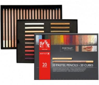 Pastel Caran Dache Retrato x 20 Unid. + 20 Cubes Cod. 20802502520