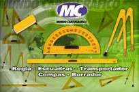 Transportador  Mundo Cartografico De Alto Impacto Para Pizarron 38,5 Cm Semi Circular 180 Grados Cod. T-002