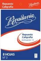 Repuesto Rivadavia Nro. 3 Caligrafia Inclinado Nro. 11 x 8 Hjs. Cod. 532301