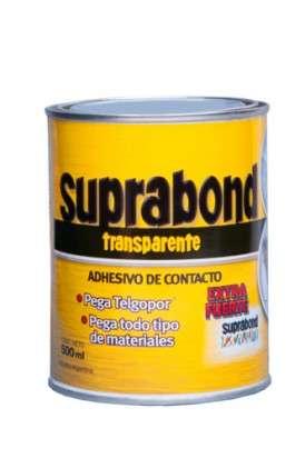 Adhesivo De Contacto Suprabond Extra Fuerte Transparente x  500 Ml. Lata Cod. Sbd Tr 1/2
