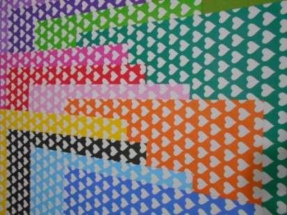 Cartulina Decorada Pinguino 50 X 70 120 Grs. Paq. X 10 Unid. Corazon Grande Naranja/Blanco Cod. 211788