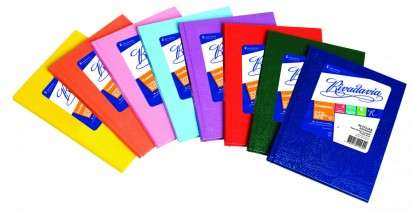 Cuaderno Rivadavia 16 x 21 Tapa Carton Araña Azul x  98 Hjs. Rayado Cod. 358110