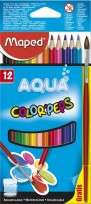 Lapices De Colores Maped Color Peps Aqua x 12 Unid. + Pincel Cod. 836011