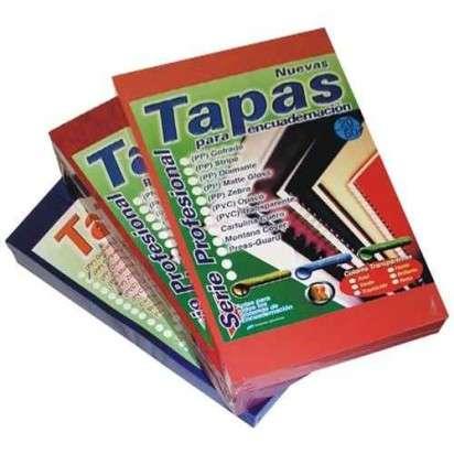 Tapa Rafer Para Encuadernacion PP Stripe Opaca Oficio Azul x 50 Unid. Cod. 354604