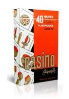 Naipes Casino Celuplastic X 40 Cartas Cartulina Extra Cod.103