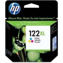 Cartucho Hewlett Packard 122 XL (CH564HL) Tricolor Alto Rendimiento 8,5 Ml. P/Deskjet 1000/2000 Cod. Ci-Hp-564H00