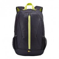 "Mochila Case Logic Porta Notebook De 15,6"", Color Gris Y Cierres Amarillo Cod. Mc-Cl-Birg15"