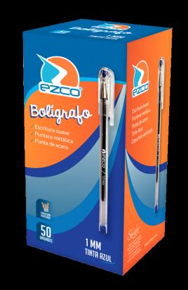 Boligrafo Ezco 1 Mm. Azul x 50 Unid. Cod. 213023-A