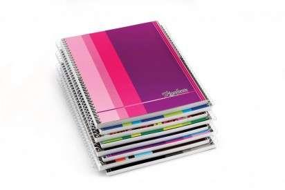 Cuaderno Triunfante Linea Tecno 16 x 21 Con Espiral Tapa Flexible x 80 Hjs. Rayado - 90 G/M2 Cod. 145155
